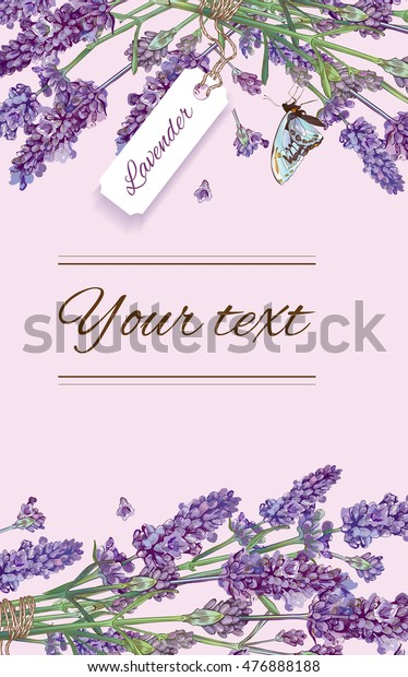 Lavender Natural Cosmetics Vertical Banner On Stock Vector