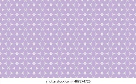Lavender purple seamless floral pattern vector