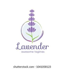 Lavender Template logo design vector illustration