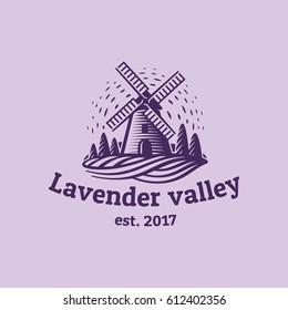 Lavender valley. Logo template.