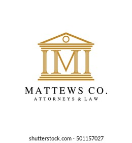 Law and Attorney logo in alphabet letter