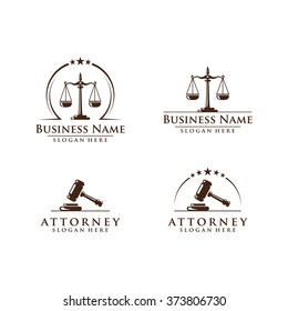 Law and attorney logo, elegant law and attorney firm vector logo design,  vol 6