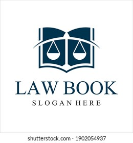 law book attorney logo design inspiration