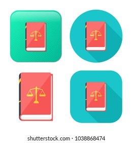 law book icon - judge icon - legal sign - judgment illustration