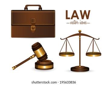 Law design over white background,vector illustration