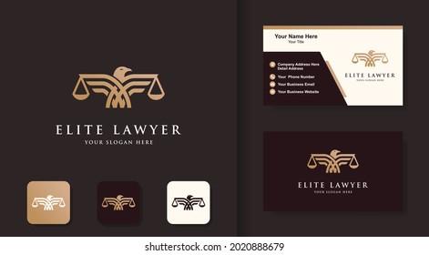 law eagle logo design, eagle bring justice and business card design