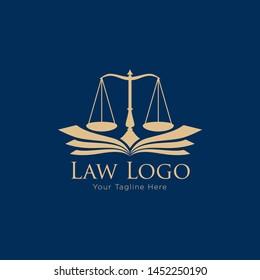 Law Education Logo Template Design Vector