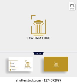 Law firm, advocate creative logo template with business card