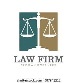 Law firm attorney logo design vector