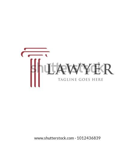 law firm legal logo icon vector のベクター画像素材 ロイヤリティ