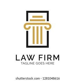 Law Firm Logo Design Inspiration, Vector illustration