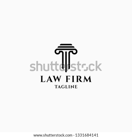 Law Firm Logo Design Template Vector Stock Vector (Royalty Free