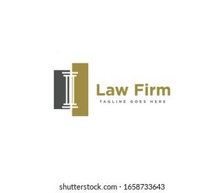Law Firm Logo Design Vector Template