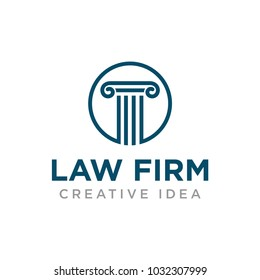 Law Firm logo and icon template