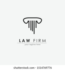 Law firm logo with modern concept.Lawyer service logo design.Vector illustration
