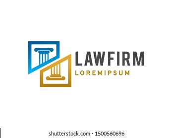 Law Firm logo symbol or icon template