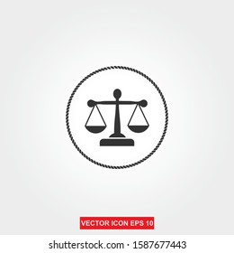 Law Firm Logo Template, attorney, lawyer service  vector Illustration
