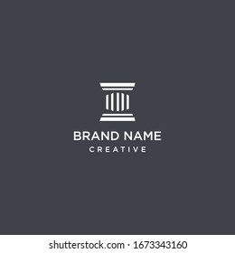 Law Firm logo template design in Vector illustration