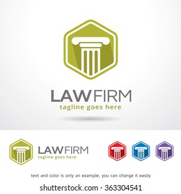 Law Firm Logo Template Design Vector