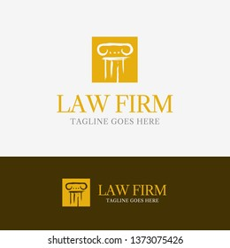Law Firm Logo template element symbol with pillar line