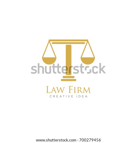Law Firm Logo Vector Stock Vector (Royalty Free) 700279456