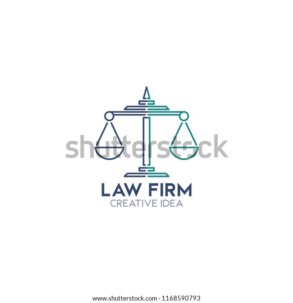 Law Firm Logo Vector Templates Stock Vector (Royalty Free