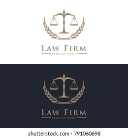 Law Firm, Law Office, Lawyer services Luxury vintage crest logo. Vector logo template