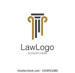 law firm vector concept logo design template