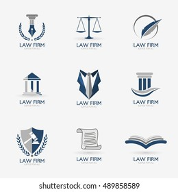 Law Firm,Law Office, Lawyer services design  logo template. Vector illustration