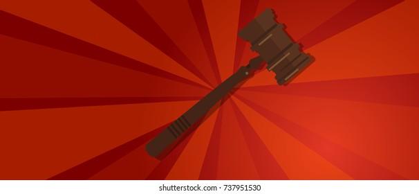 law gavel wooden hammer justice legal judicial revolution red propaganda strong strike protest