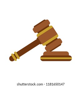 Law hammer flat icon. You can be used for several purposes like: websites, UI, UX, print templates, presentation templates, promotional materials, info-graphics, web and mobile phone apps.