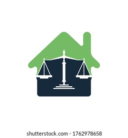 Law House Logo Design. Property Law Logo, Real estate and law symbol.