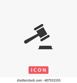 law Icon Vector. Simple flat symbol. Perfect Black pictogram illustration on white background.