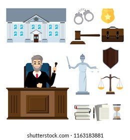 Law and Justice Concept with Judge Character