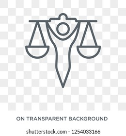 law and justice icon. Trendy flat vector law and justice icon on transparent background from law and justice collection. High quality filled law and justice symbol use for web and mobile