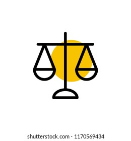 law justice icon vector