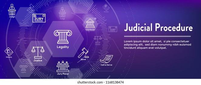 Law and Legal Icon Set - Judge, Jury, and Judicial icons