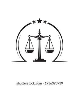 Law logo design vector template