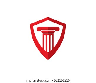 Law Logo Template Design Vector, Emblem, Design Concept, Creative Symbol, Icon