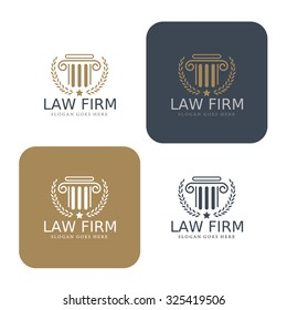 Law logo,law firm,law office,vector illustrator