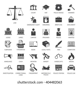 Law and police icon set