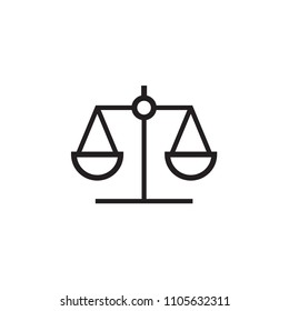 Law scale icon Vector illustration, EPS10