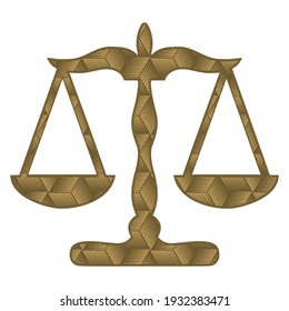 Law Scale Vector Illustration. Justice And Law Logo Design. Lawyer Logo Idea