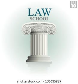 Law school with classic roman column