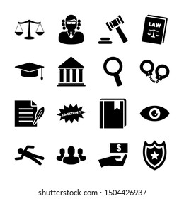 law solid icons vector design