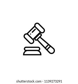 Law vector icon