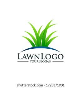 Lawn care logo design template vector
