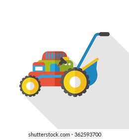 Lawn mower flat icon