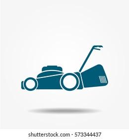 Lawn mower icon vector