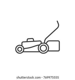 Lawn mower line icon.
